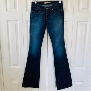 J Brand Dark Wash Low Rise Fit & Flare Jeans | 25